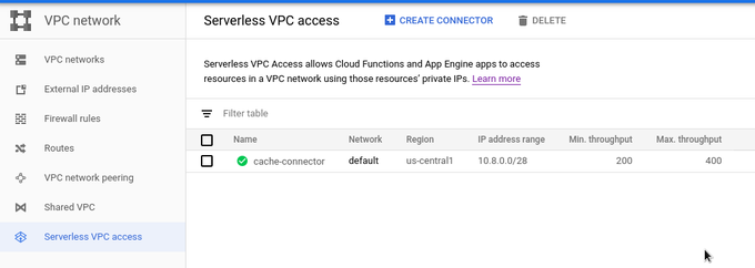 Connecting Cloud Functions with Compute Engine using