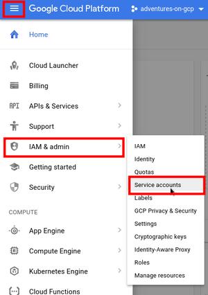 Service Accounts on Google Cloud Platform