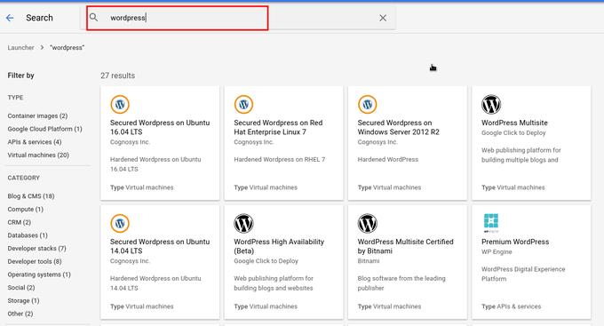 Setting WordPress on Google Cloud Platform
